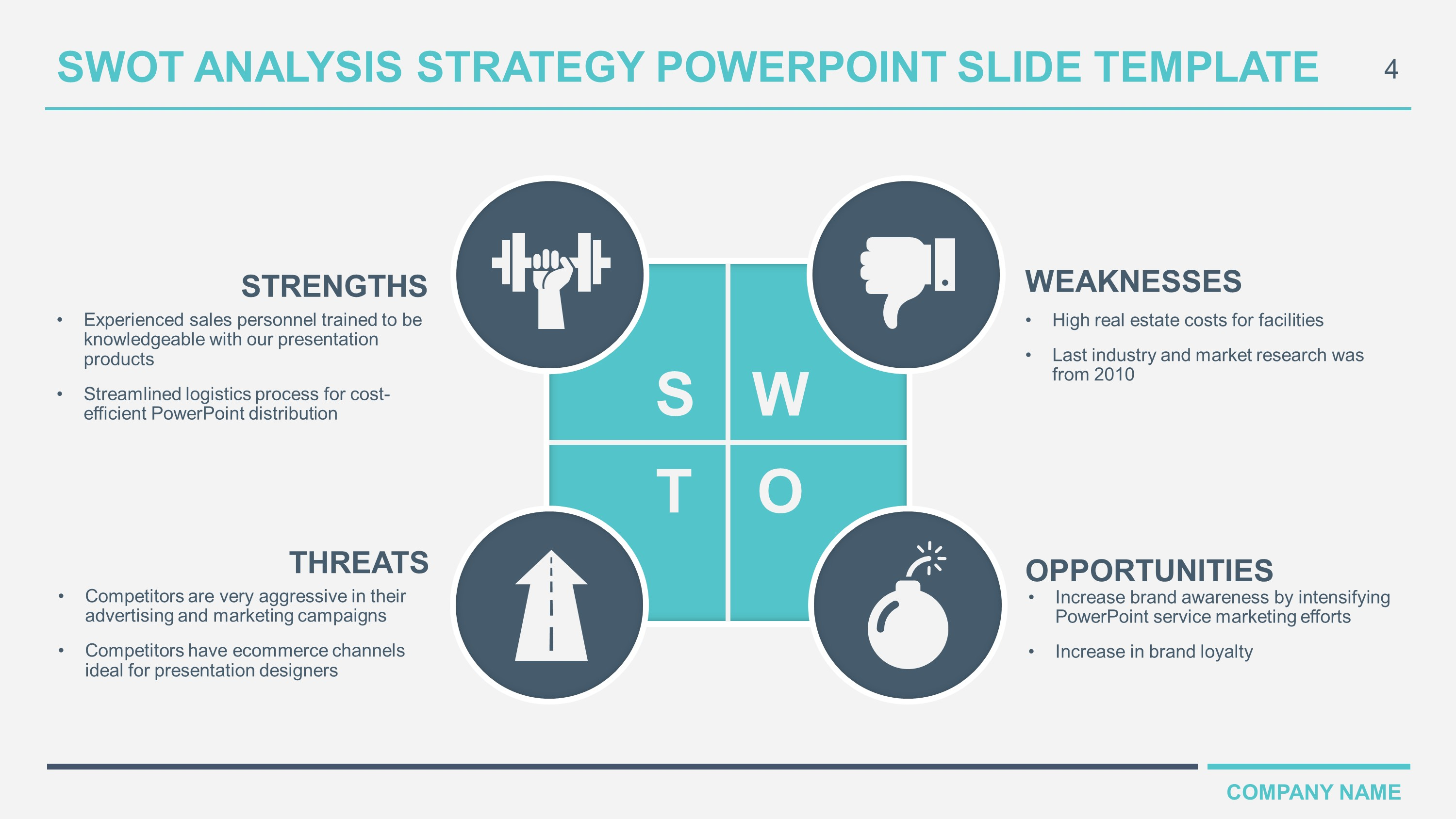 Free download business swot analysis powerpoint templates business swot analysis powerpoint cheaphphosting Images