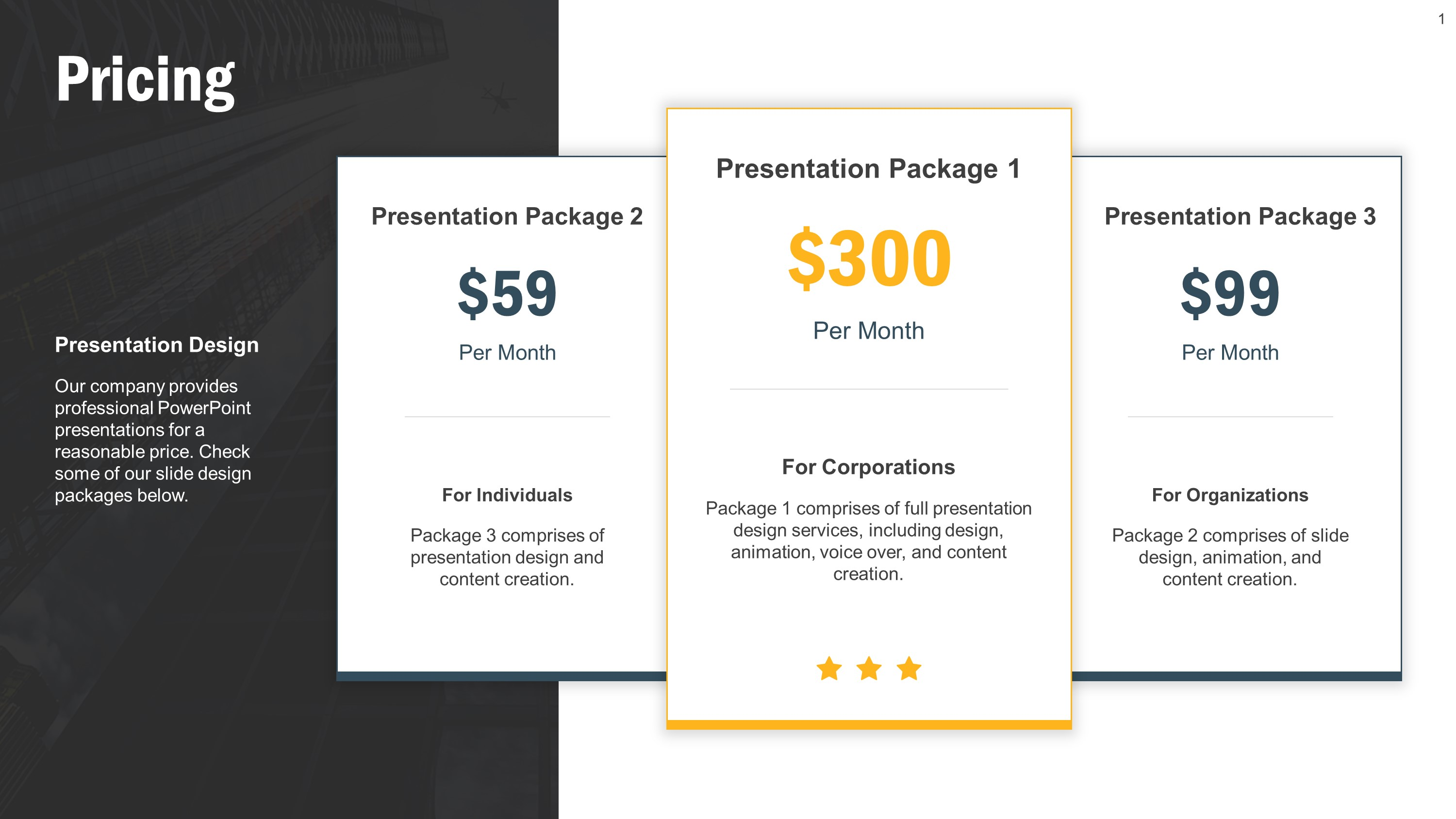 Pricing Tier Template Bundle for PowerPoint