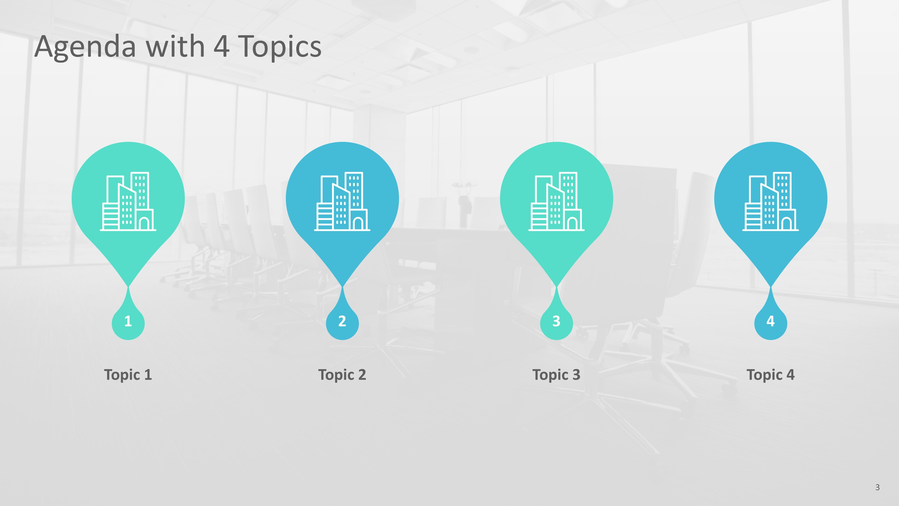 Modern Teardrop Corporate PowerPoint Premium Template