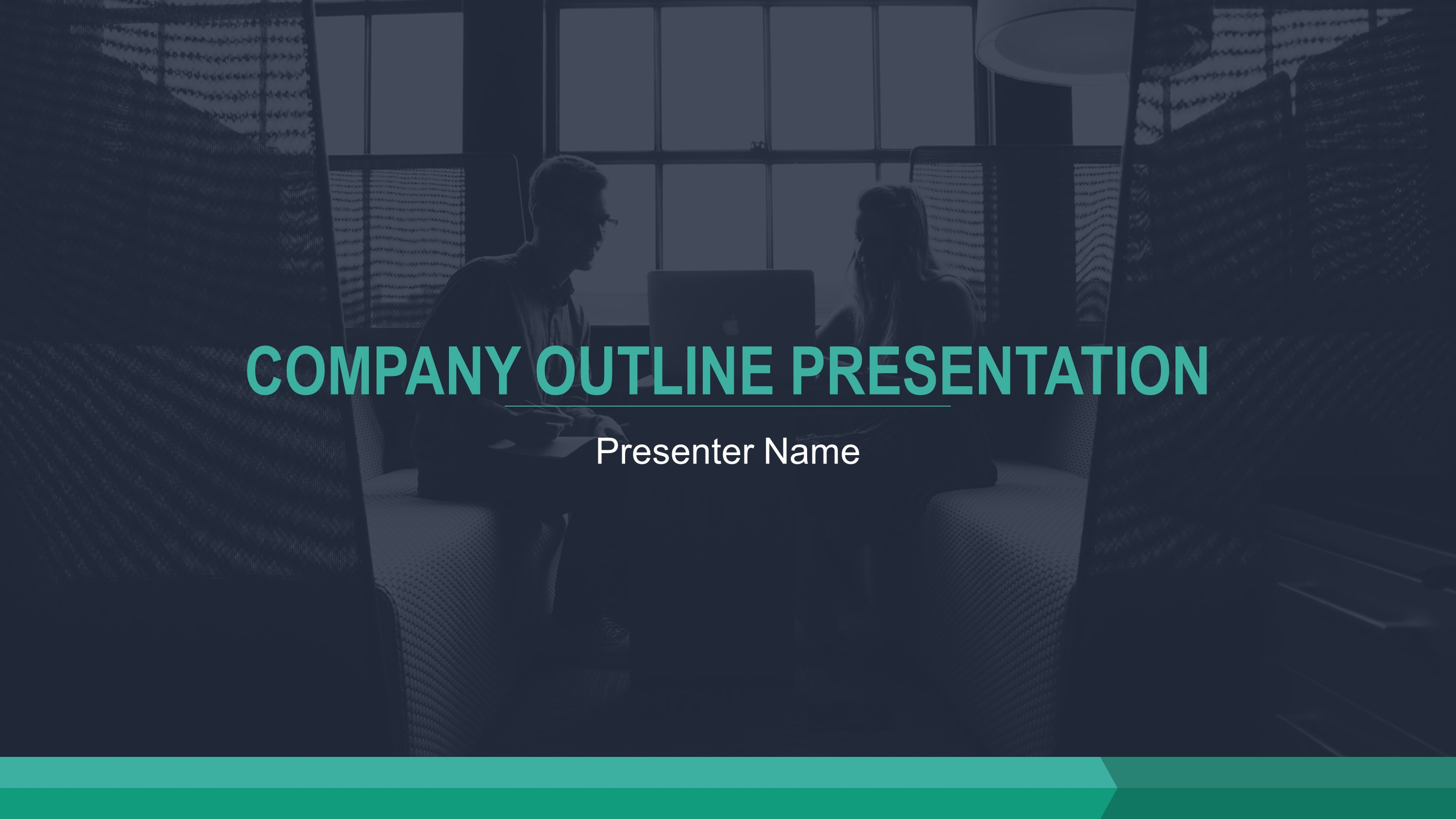 Sleek Teardrop Presentation PowerPoint