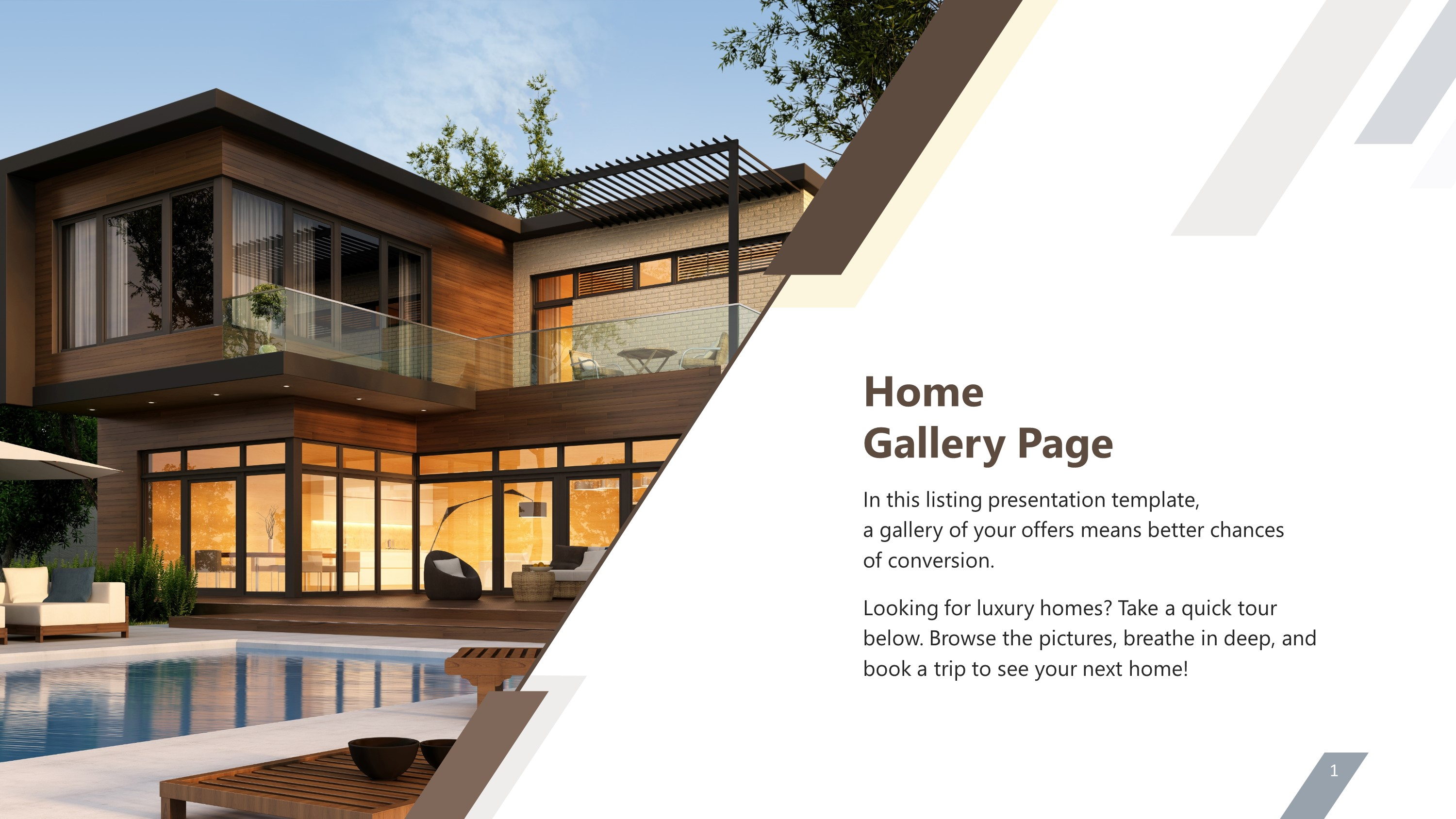 Luxury Home Gallery Page PowerPoint Slide