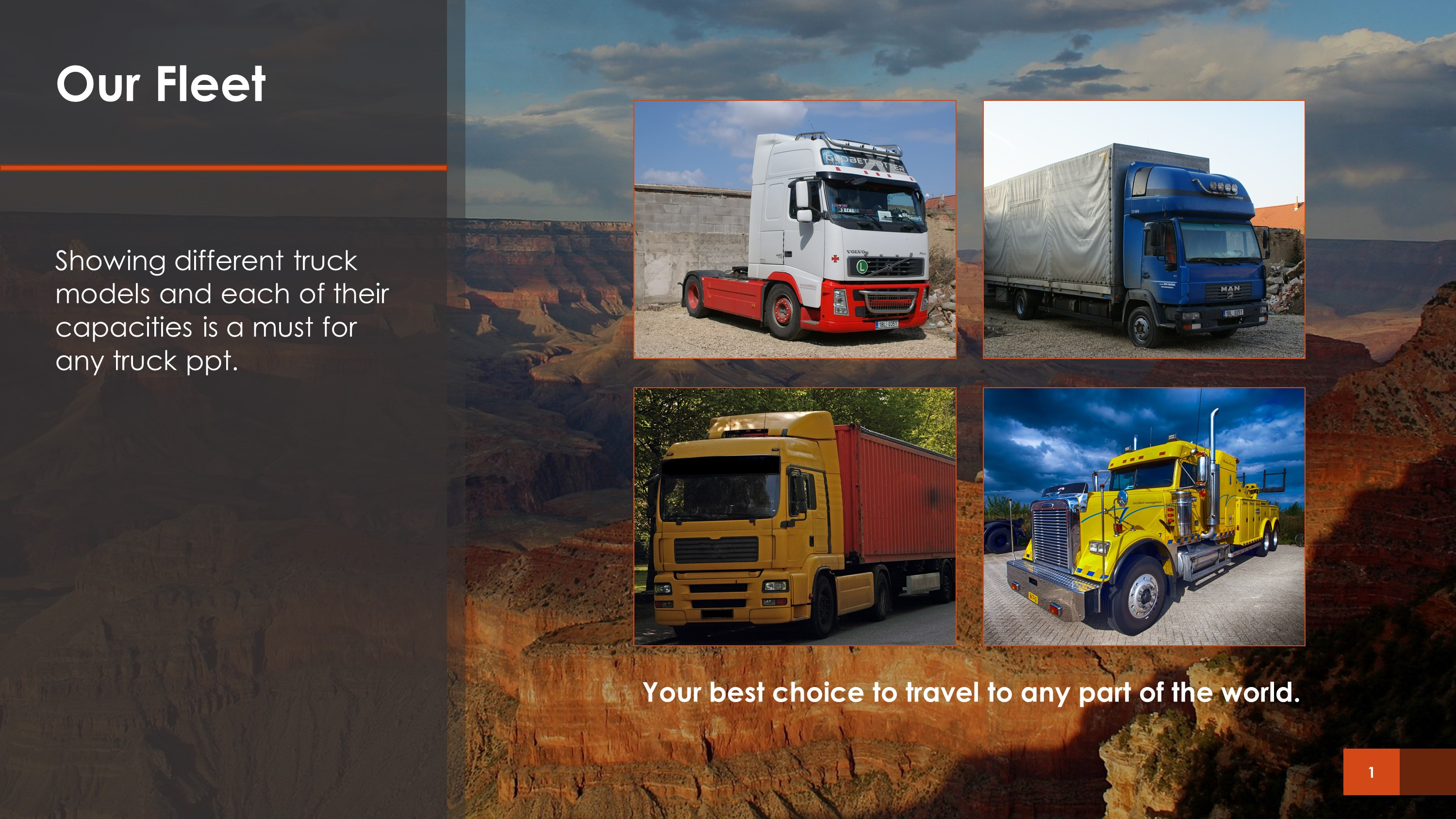 Our Fleet Transportation PowerPoint Slide