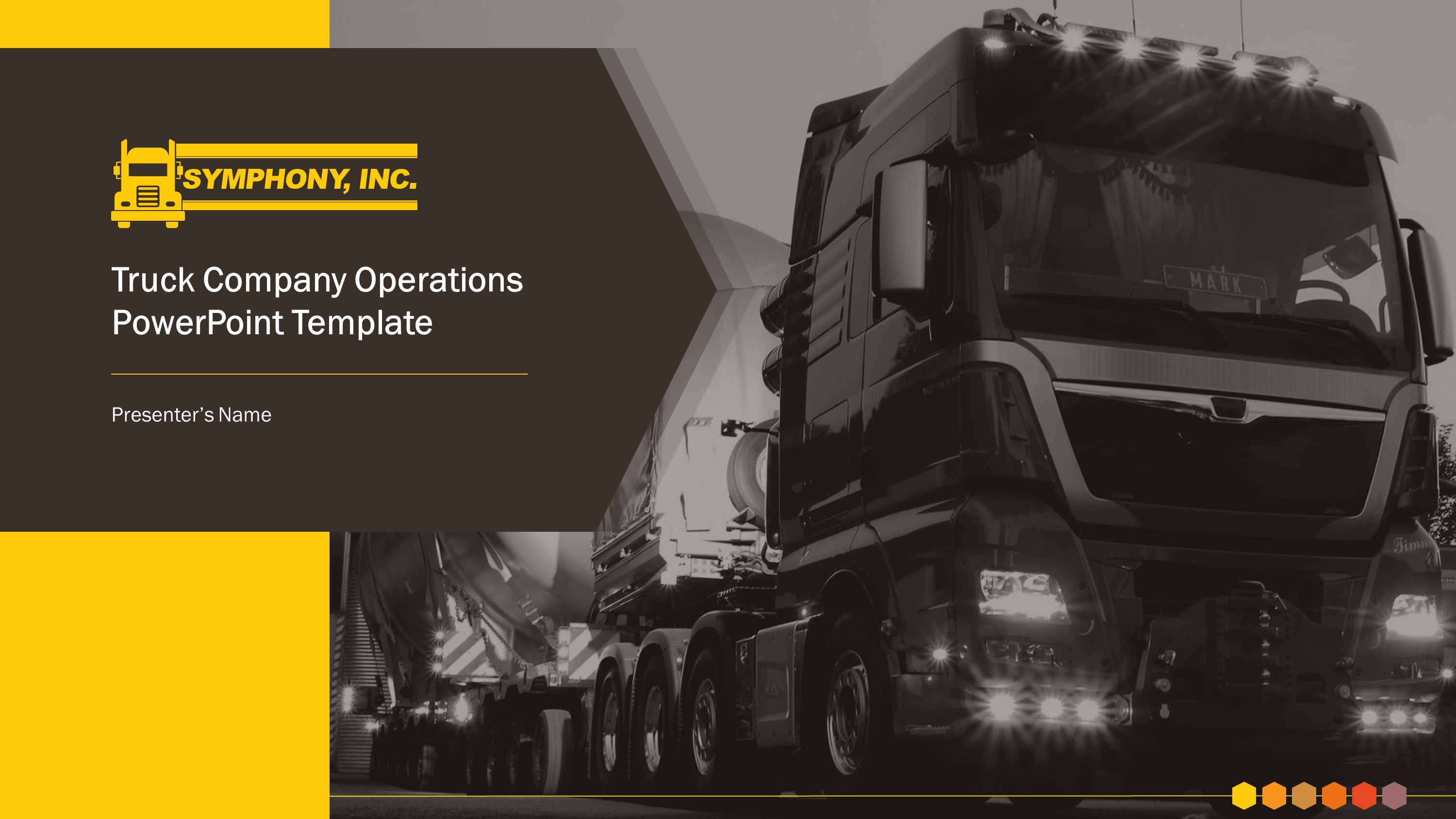 Trucking Company Premium PowerPoint Template