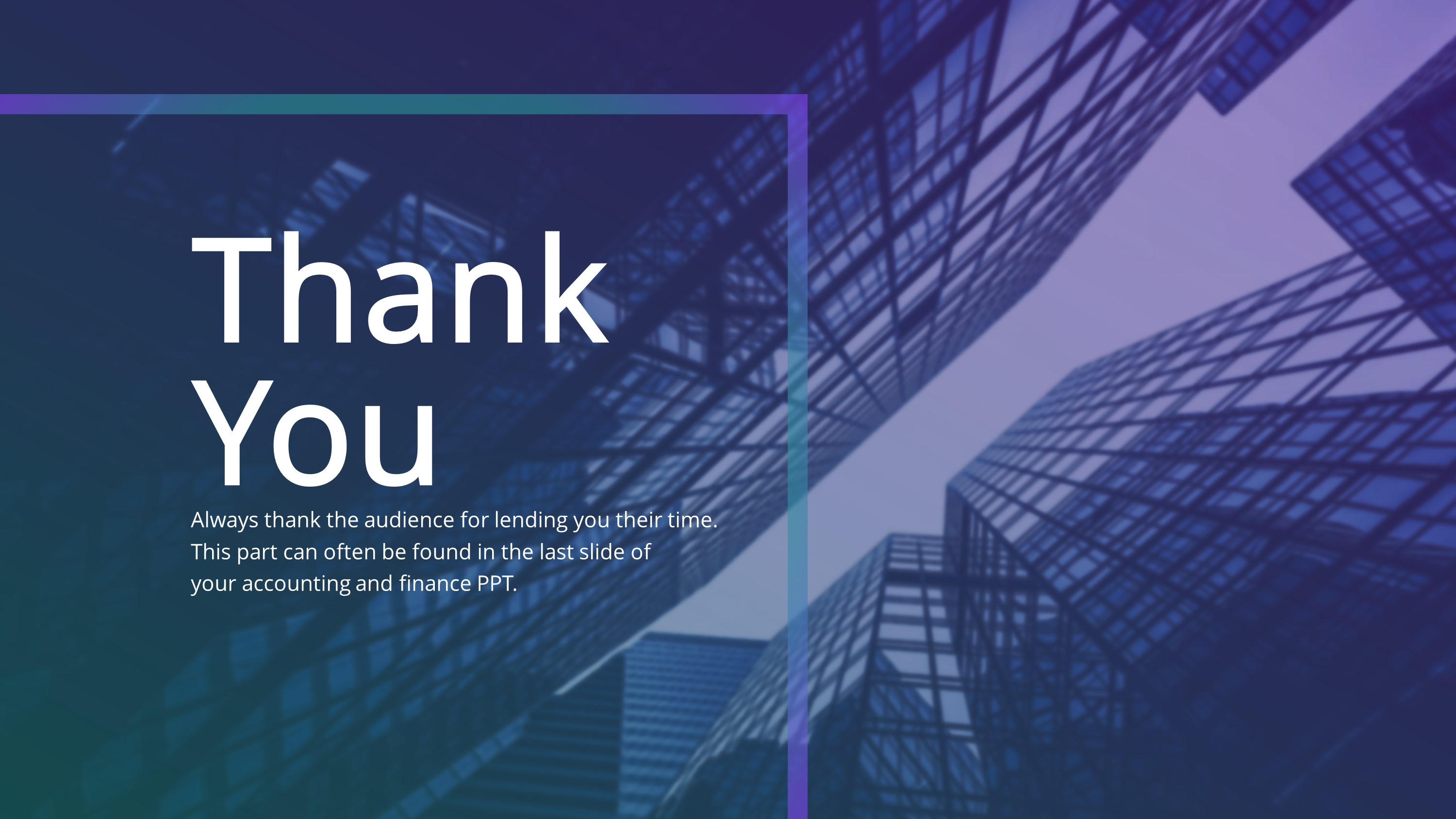 Financial Thank You PowerPoint Slide