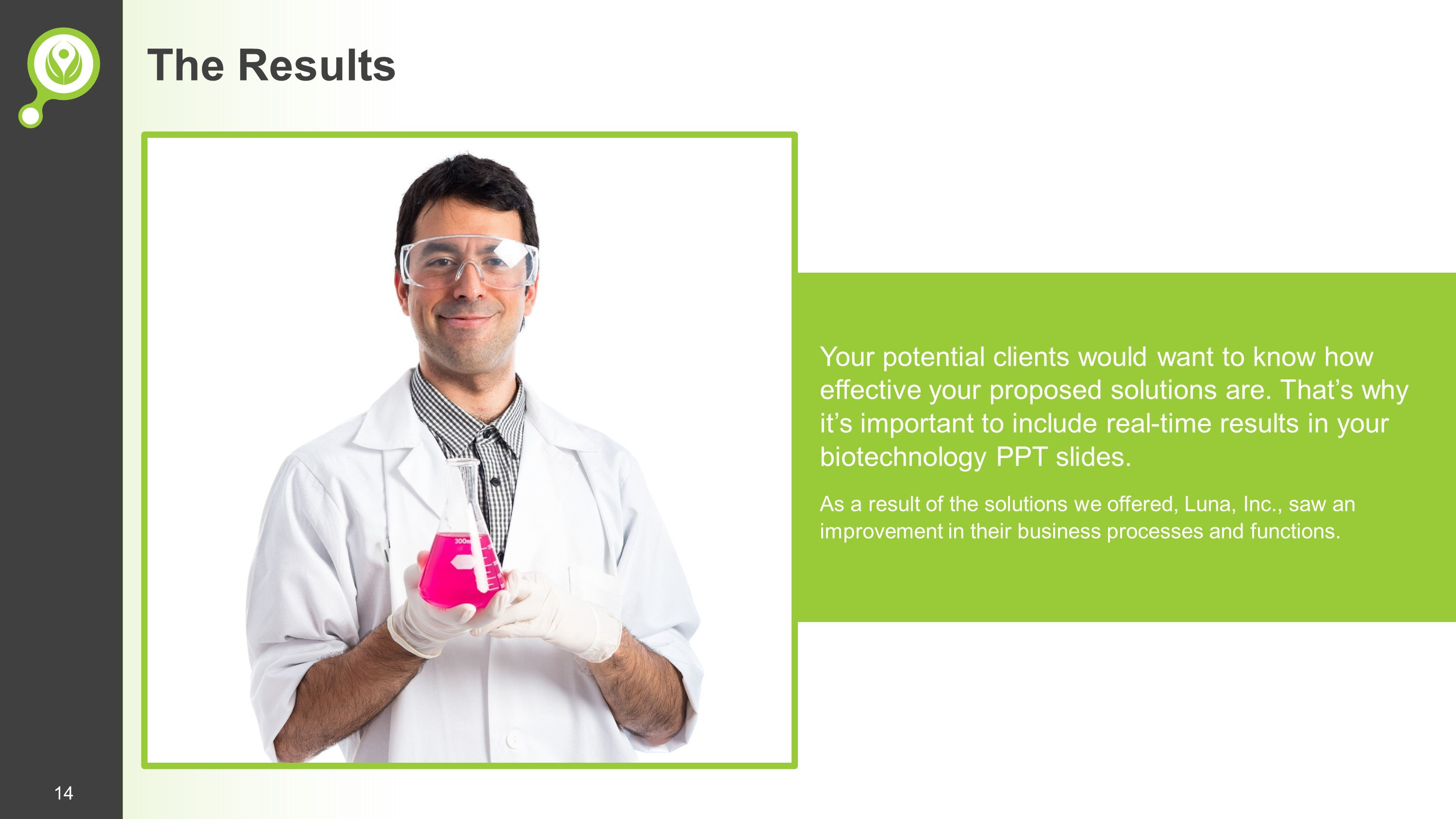 Clean Biotechnology Premium PowerPoint Template