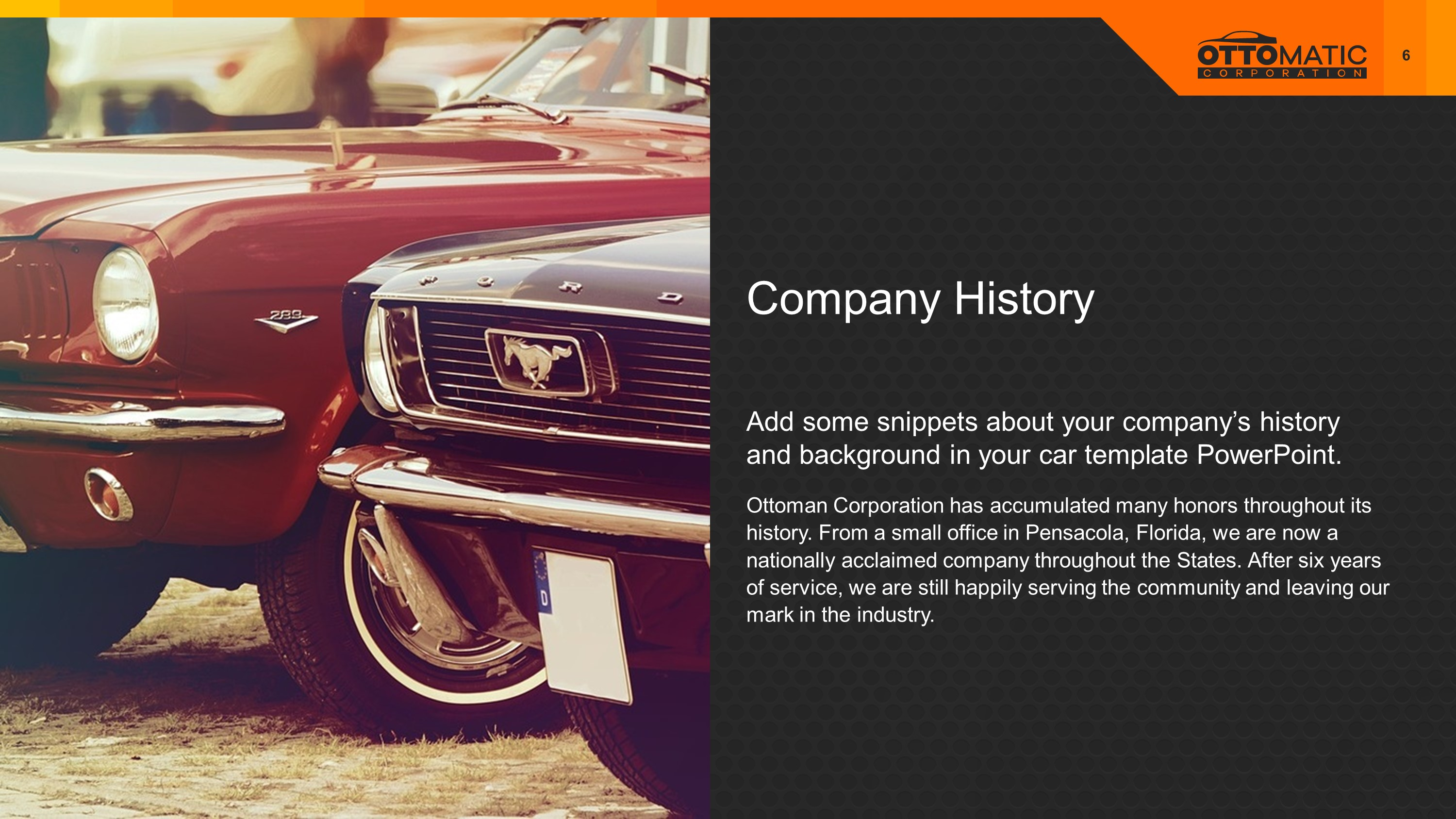Automotive Company Premium PowerPoint Template