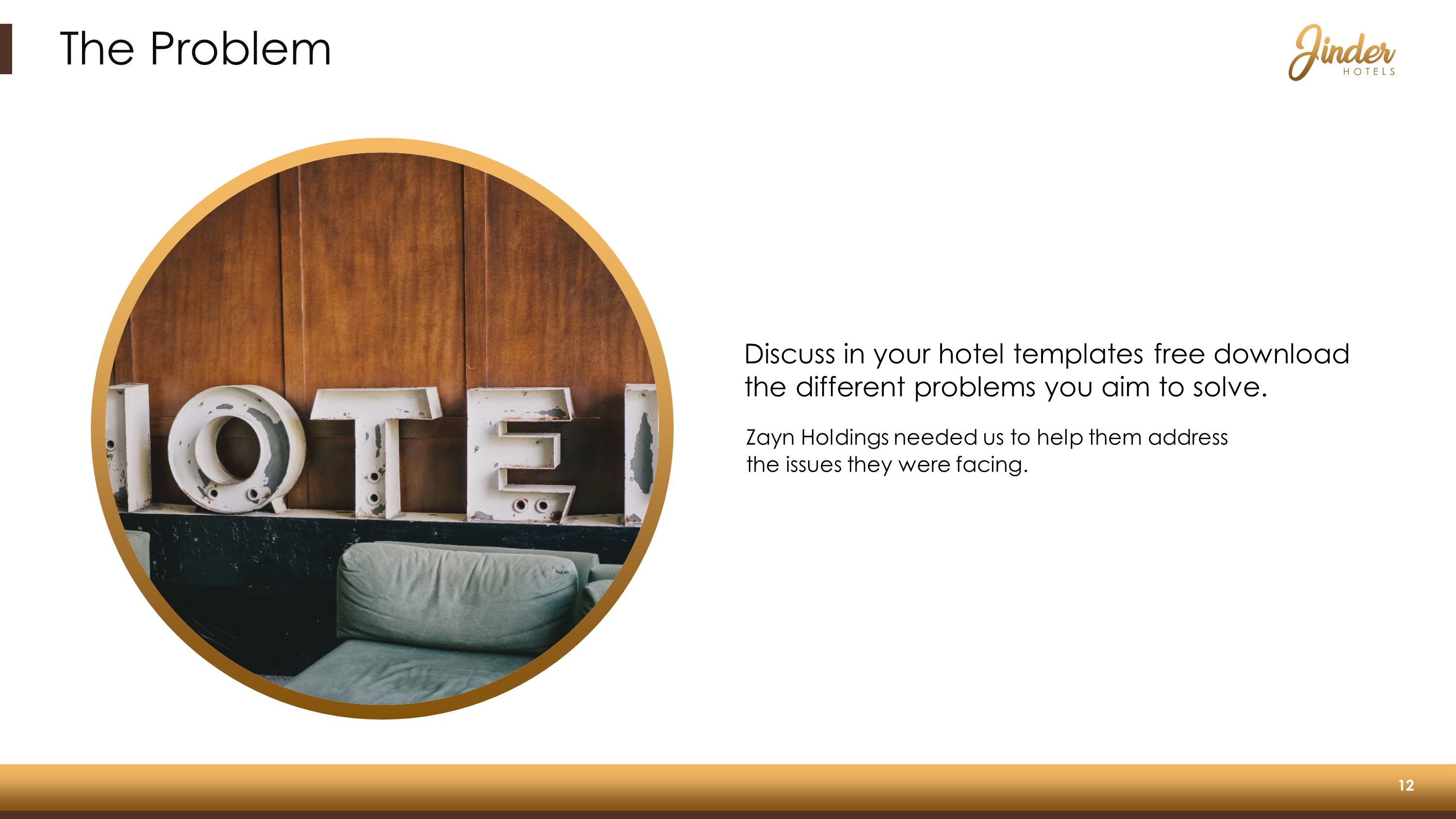 Hotel Company Premium PowerPoint Template