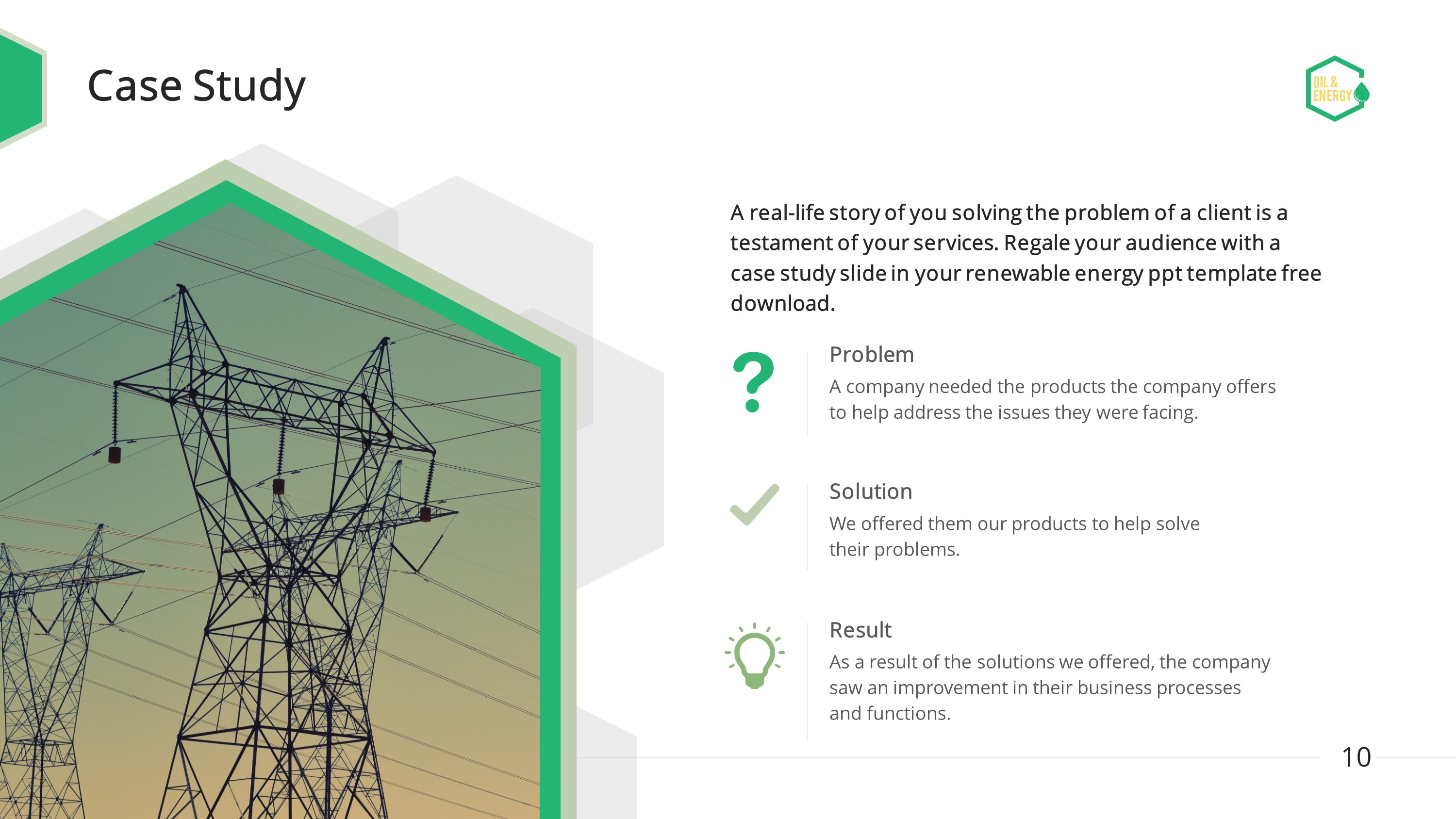 Oil And Energy Premium PowerPoint Template