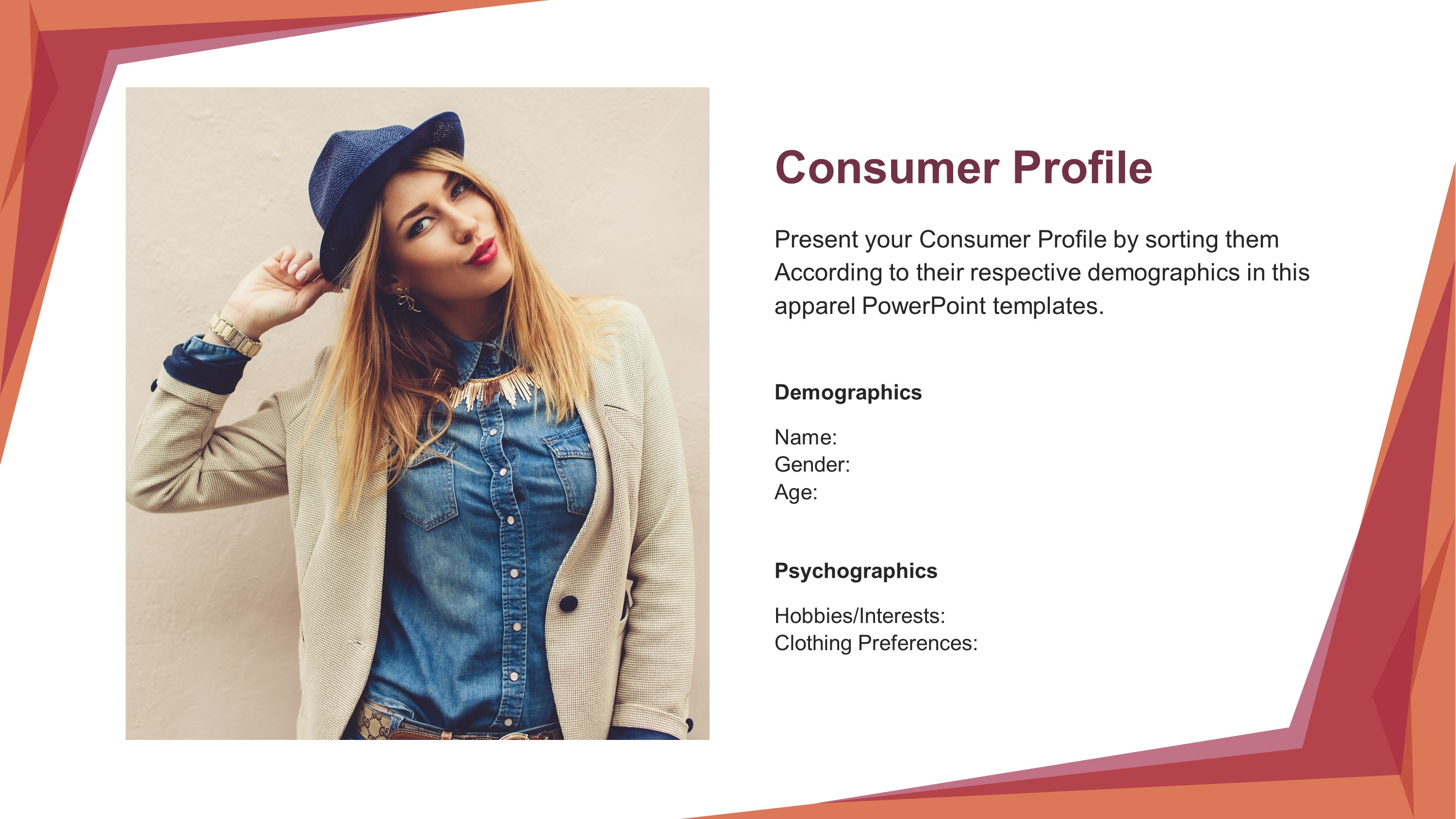 how to create a customer profile for fashion