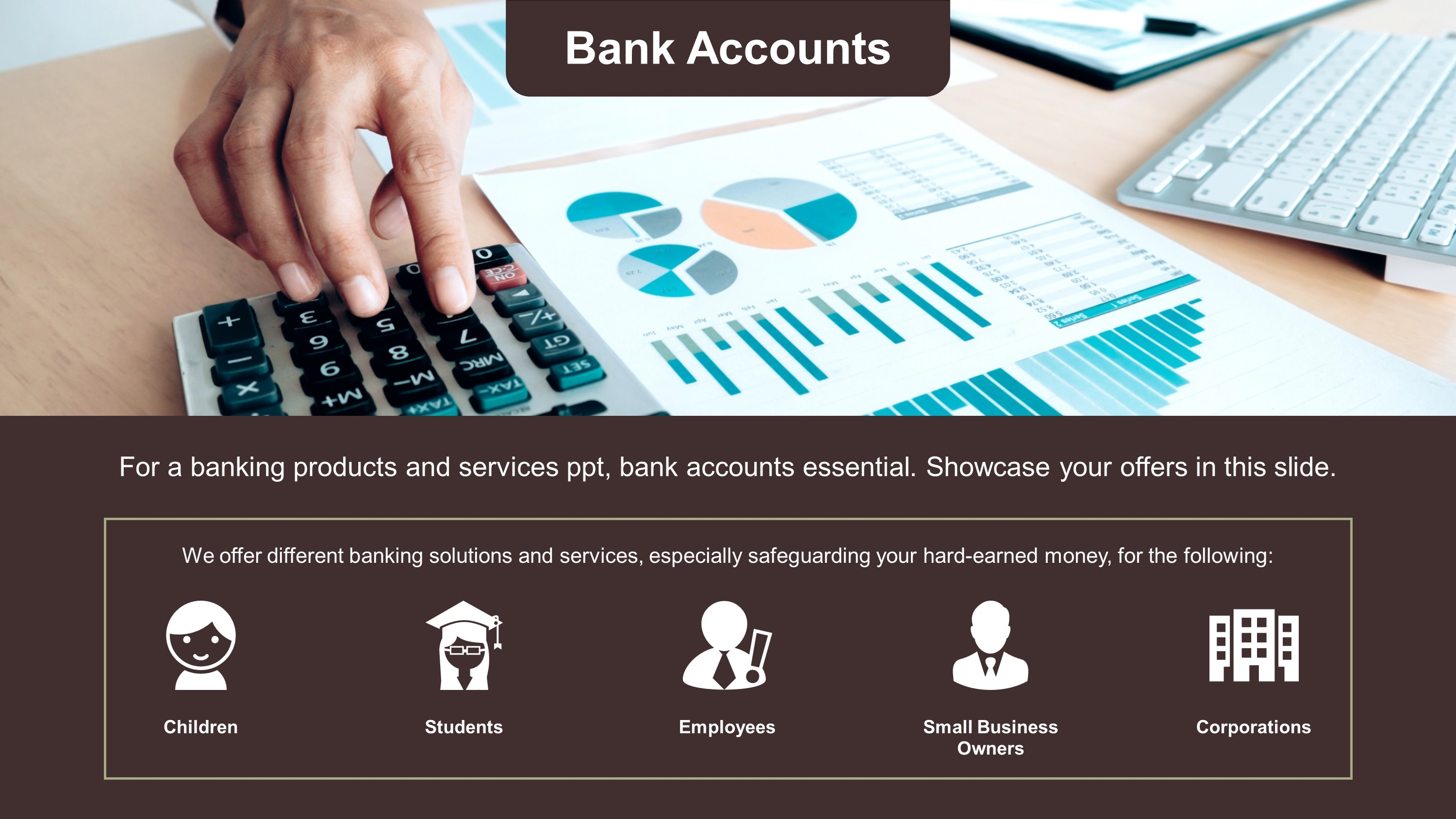 Free Bank Accounts PowerPoint Slide