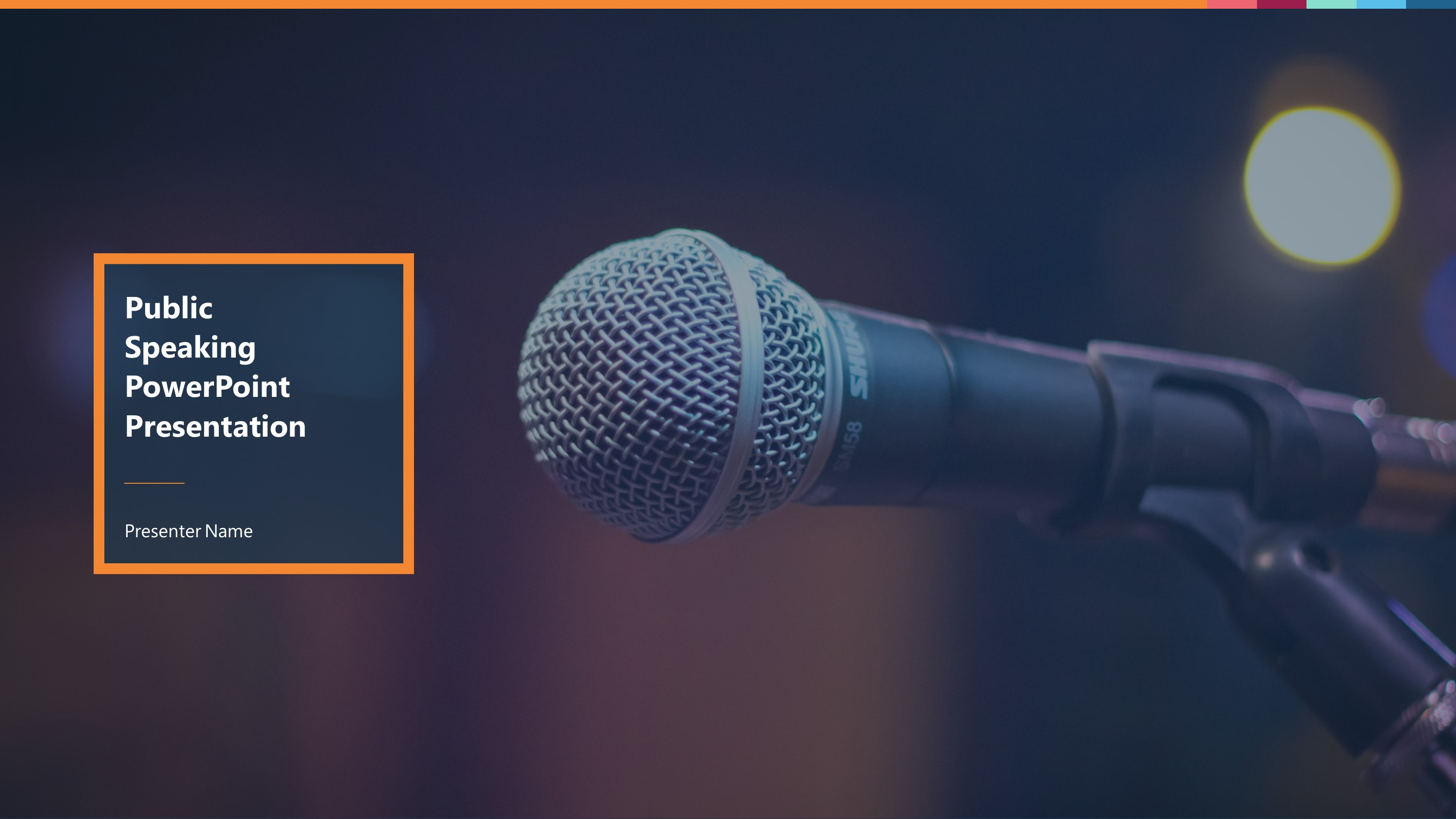 sleek public speaking premium powerpoint template