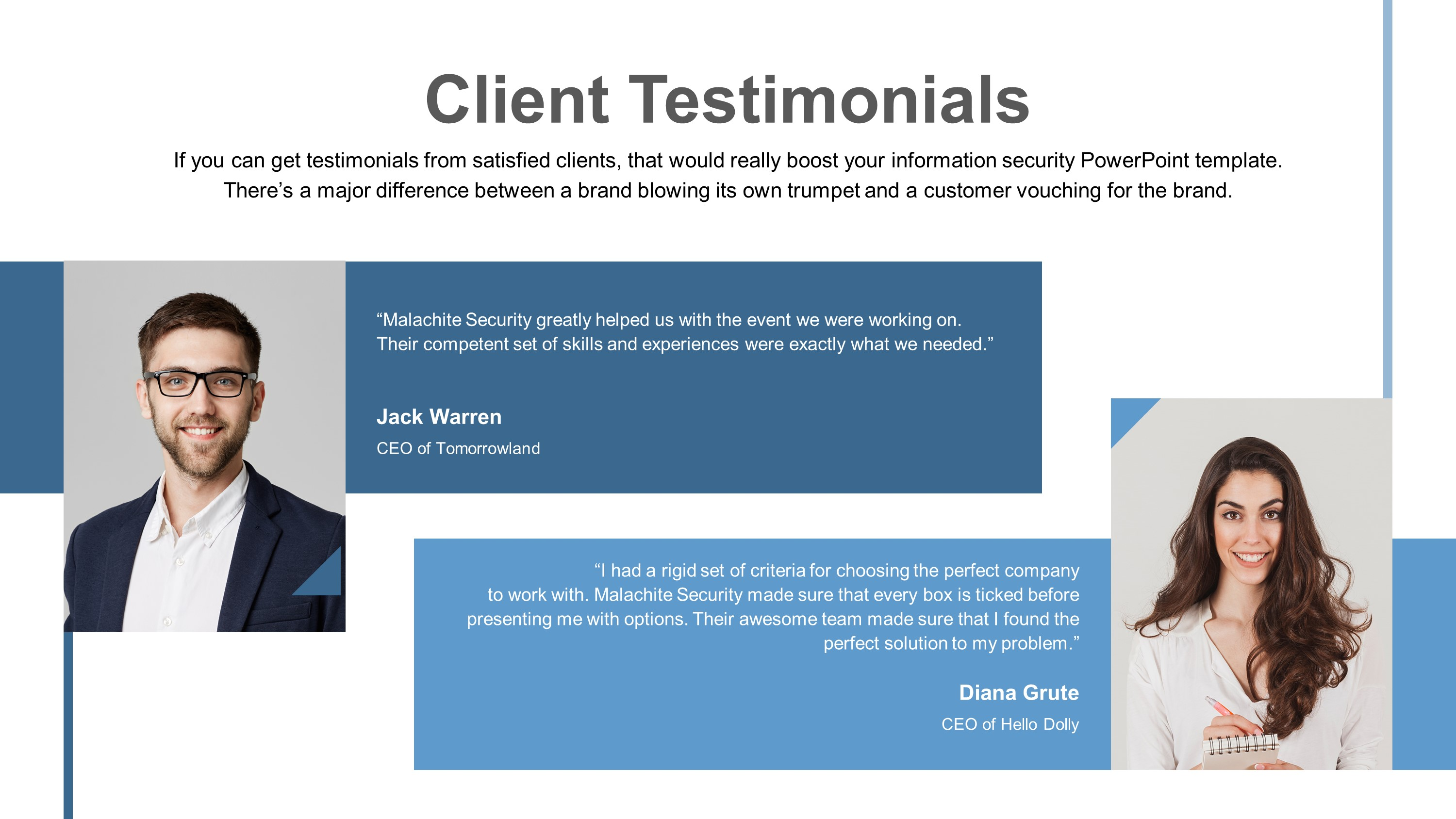 testimonial powerpoint templates sample slide presentation themes