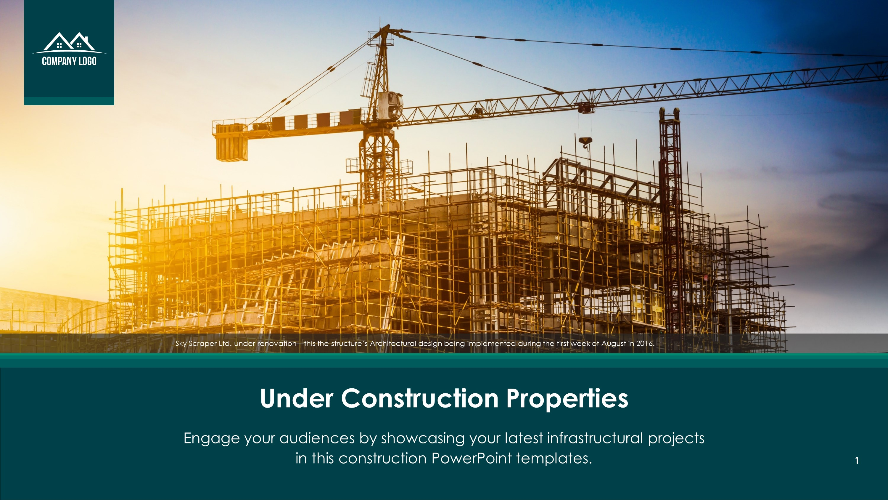 Free Under Construction Properties PowerPoint Slide