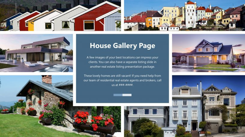 free real estate house gallery powerpoint slide templates | slidestore, Powerpoint templates