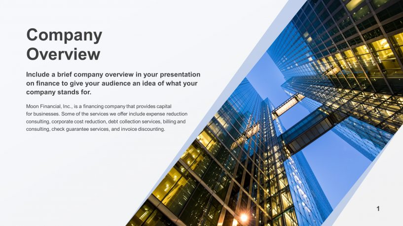Free Company Overview PowerPoint Slide