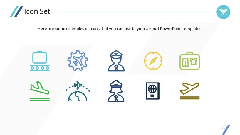 clean airplane premium powerpoint template – slidestore, Modern powerpoint