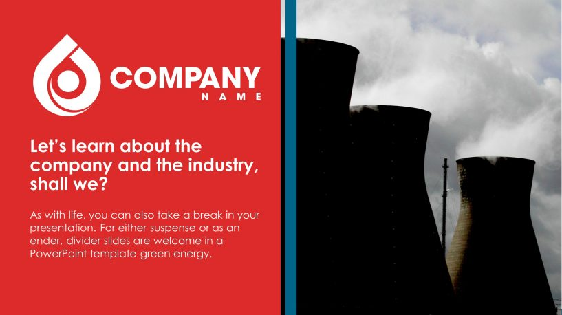 oil and gas premium powerpoint template – slidestore, Presentation templates