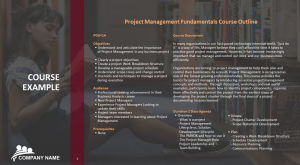 Free Educational Project Management Fundamentals PowerPoint Slide
